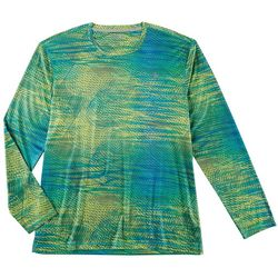 Reel Legends Mens Reel-Tec Scan Spirals Long Sleeve T-Shirt