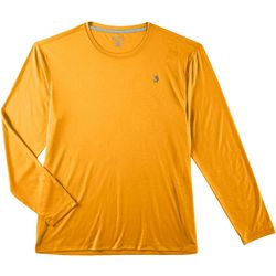 Reel Legends Mens Reel-Tec Deboss Solid Thumbhole T-Shirt
