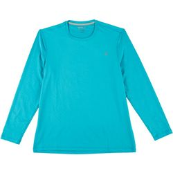 Reel Legends Mens Long Sleeve Reel-Tec Deboss T-Shirt
