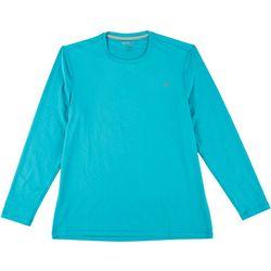 Reel Legends Mens Long Sleeve Reel-Tec Deboss T-Shirt