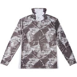 Reel Legends Mens Reel-Tec Neck Shield Abstract T-Shirt