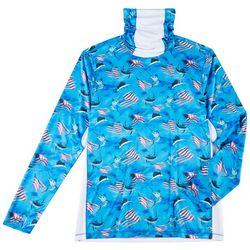 Mens Reel-Tec Neck Shield Patriot Fish T-Shirt