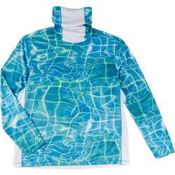 Mens Reel-Tec Neck Shield Water Plaid T-Shirt