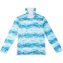 Reel Legends Mens Reel-Tec Neck Shield Waterlines T-Shirt