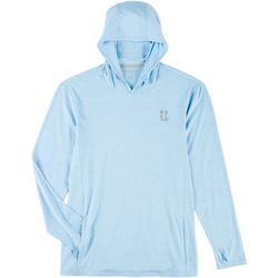 Reel Legends Mens Freeline Angler Hooded Long Sleeve T-Shirt