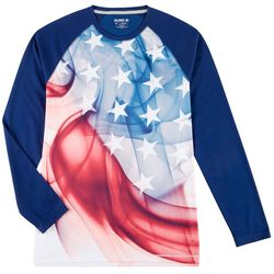 Reel Legends Mens Freeline Smoke Flag Long Sleeve Shirt