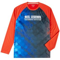 Reel Legends Mens Freeline Starnation Long Sleeve Shirt