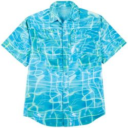 Reel Legends Mens Saltwater II Water Plaid Shirt