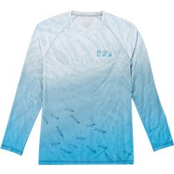 Reel Legends Mens Reel-Tec Spade Long Sleeve T-Shirt
