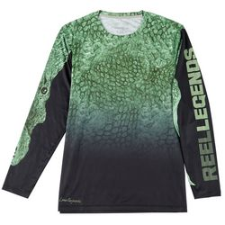Reel Legends Mens Long Sleeve Reel-Tec Feeding Frenzy Tee
