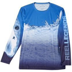 Mens Long Sleeve Reel-Tec Great Bite T-Shirt