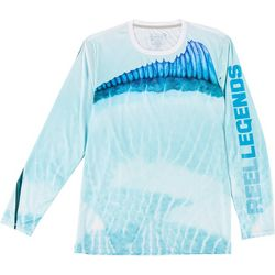 Reel Legends Mens Reel-Tec Long Sleeve Marlin T-Shirt