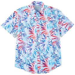 Mens Mariner II Splat Palms Short Sleeve Shirt