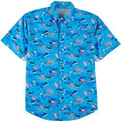 Mens Mariner II Patriot Fish Short Sleeve Shirt