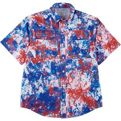 Reel Legends Mens Saltwater II Splat Short Sleeve Shirt