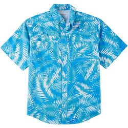 Reel Legends Mens Saltwater II Trio Palm Short Sleeve Shirt