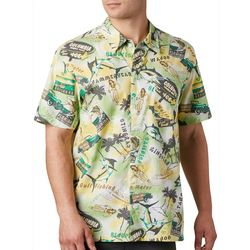 Columbia Mens PFG Trollers Best Archive Print Shirt