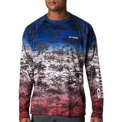 Columbia Mens PFG American Camo Super Terminal Tackle Shirt