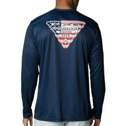 Columbia Mens Terminal Tackle  Triangle Long Sleeve T-Shirt