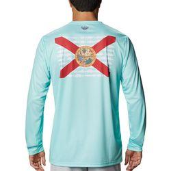 Columbia Mens Terminal Tackle Florida Fish Flag T-Shirt