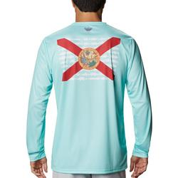 Mens Terminal Tackle Florida Fish Flag T-Shirt