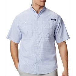 Mens PFG Super Tamiami Window Pane Plaid Shirt
