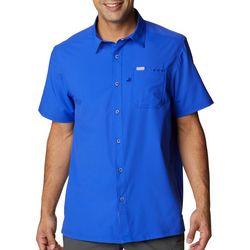 PFG Columbia Mens Fish Water Bass Short Sleeve Shirt