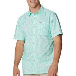 Columbia Mens Super Slack Tide Tropical Print Camp Shirt