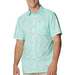 Mens Super Slack Tide Tropical Print Camp Shirt