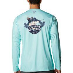 Columbia Mens PFG Terminal Tackle Vintage Marlin Sign Shirt