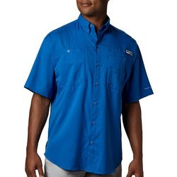 Columbia Mens Big & Tall PFG Tamiami II Solid Shirt