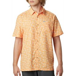 Columbia Mens Super Slack Tide Fish Print Camp Shirt