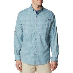 Columbia Mens PFG Super Tamiami Plaid Print Shirt