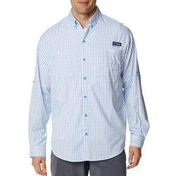 Columbia Mens PFG Super Tamiami Vertical Pin Stripes Shirt