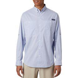 Columbia Mens PFG Super Tamiami Mini Windowpane Print Shirt