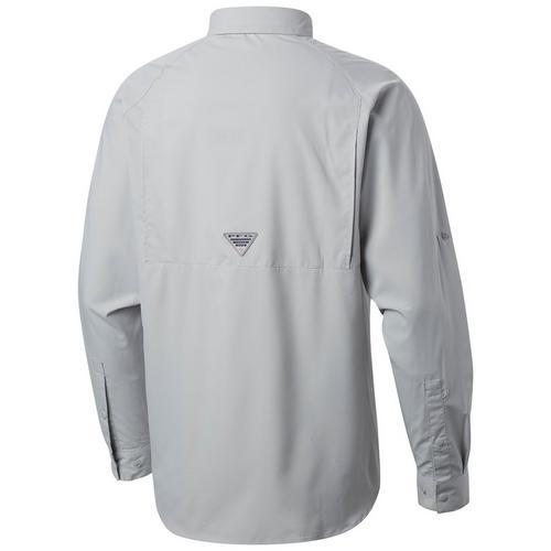 Cool Grey Fish Large Columbia Youth Boys Big PFG Silhouette Series/Long Sleeve Shirt