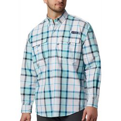 Columbia Mens PFG Super Bahama Plaid Long Sleeve
