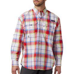 Columbia Mens PFG Super Bahama Plaid Shirt