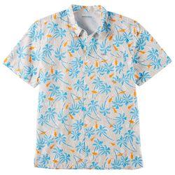 Columbia Mens PFG Trollers Best Riptide Palms Fish Shirt