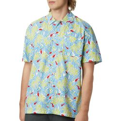 Columbia Mens PFG Trollers Best Yacht Fish Palms Print Shirt