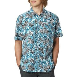 Columbia Mens PFG Trollers Best Palm Tree Print Shirt