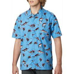 Columbia Mens PFG Trollers Best Watery Fish Print Shirt