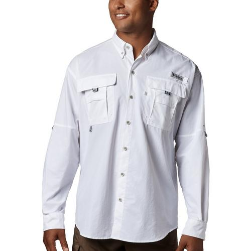 "New Mens Columbia PFG /""Bahama II/"" Omni-Shade Vented Long Sleeve Fishing Shirt"