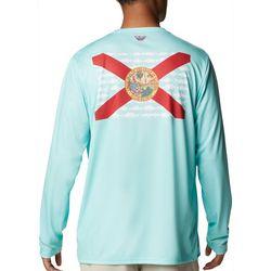 Columbia Mens PFG Terminal Tackle Fish Flag T-Shirt