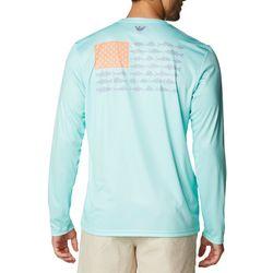 Columbia Mens PFG Fish Flag Long Sleeve T-Shirt