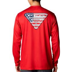 Mens Terminal Tackle PFG American Flag T-Shirt