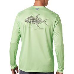 Mens PFG Terminal Tackle Fish Tribal T-Shirt