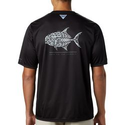 Columbia Mens PFG Terminal Tackle Fish Tribal Print T-Shirt
