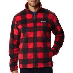 Mens Steens Mountain Checkered Full Zip Jacket