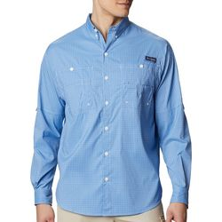 Columbia Mens Plaid Tamiami Long Sleeve Shirt